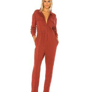 Free People Set The Tone Eyelet Utility Jumpsuit